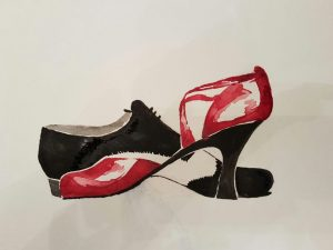 Two dancing shoes